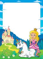 Princess and unicorn theme frame 1
