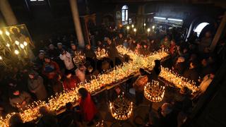 Fiery Cross with jars of honey