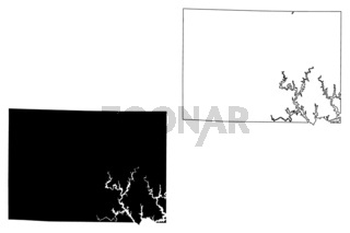 Winston County, Alabama (Counties in Alabama, United States of America,USA, U.S., US) map vector illustration, scribble sketch Winston map