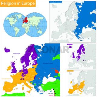 Predominant religious in Europe