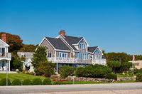 Suburban neighborhood. New Hampshire, USA.
