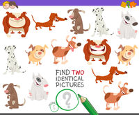 find two identical dogs game for kids