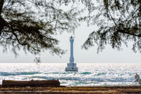 Lighthouse on the sea at Koh Tarutao, Thailand