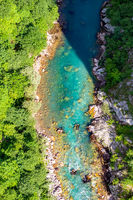 Top view of river