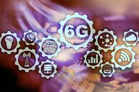 Future Communications Fast Technology. 6G Network Connection Concept. High Speed Mobile Wireless Technology.