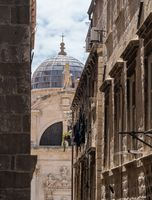 Details of roof of St Blaise church in Dubrovnik old town