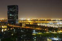 Doha, Qatar during night