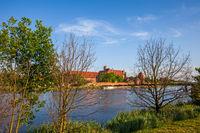 Nogat River and Malbork Castle in Poland