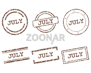 July Stempel - July stamps