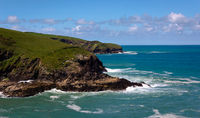 Tintagel coastline- 2 - Cornwall - UK