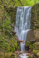 Waterfall in Rastenbach gorge at Lake Caldaro, South Tyrol