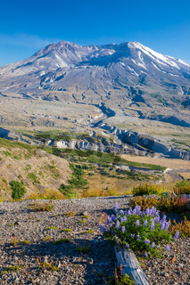 A view of the volcano, Mount Saint Helens, Washington