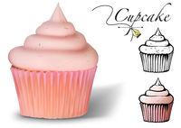 Cupcake 3D Vector Set