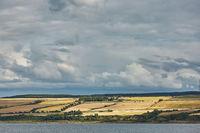 Seascape and landscape of Invergordon in Scotland, UK.