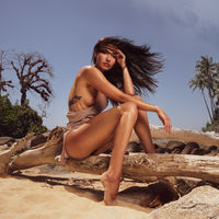Beautiful woman at the tropical beach