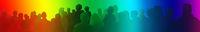 menschenmenge zuschauer silhouetten banner