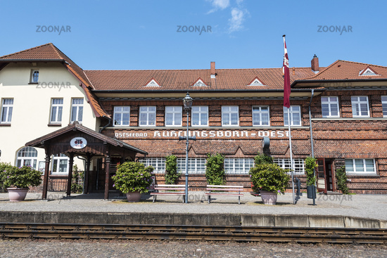 train station, Kuehlungsborn West, Mecklenburg-Western Pomerania, Germany, Europe