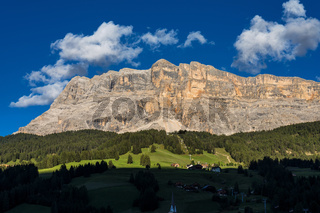 Sasso di Santa Croce in eastern Dolomites, Badia valley, South Tyrol, Italy