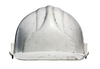 Isolated Grungy Hardhat