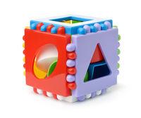 Plastic shape sorter cube