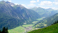 View into the Lech Valley in Tyrol