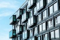 modern architecture building facade -  real estate exterior