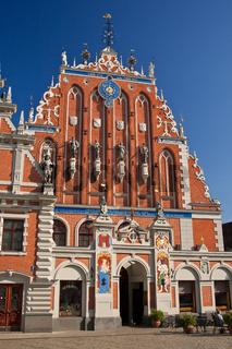 Blackhead's house in Riga, Latvia