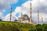 Camlica Mosque on the picturesque hill of Istanbul, Turkey