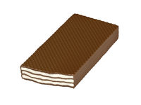 Chocolate wafer isolated on white