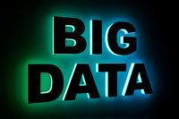 word big data with neon light