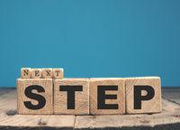 Next step on wooden blocks