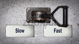 Wall Switch to Fast versus Slow