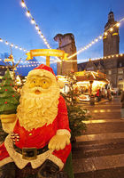 Christmas market in front of the town hall, Alt-Remscheid, Remscheid, Germany, Europe