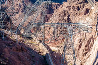 hoover dam on lake mead in nevada and arizona stateline