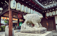 Temple at Gion, old district in Kyoto, Japan