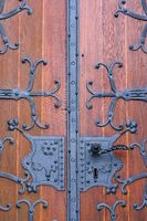 Wrought iron church door