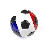 Soccer ball with the flag of France