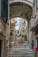 Narrow stair passage in Dubrovnik Old town