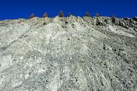 Soil erosion of a mountain slope, Zermatt, Valais, Switzerland