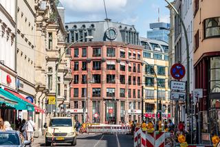 Street view in Scheunenviertel quarter in Berlin Mitte