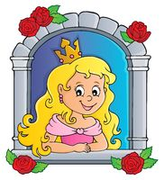 Princess in window theme image 1