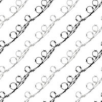 Barbed Wire Fence Seamless Pattern. Stylized Prison Concept. Symbol of Not Freedom. Metal Loop Wire.