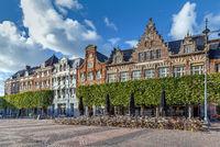 Houses on Grote markt, Haarlem, Netherlands