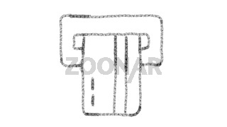 ATM card icon designed with drawing style on chalkboard, animated footage ideal for compositing and motiongrafics