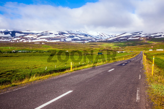 The Iceland  highway in Tundra