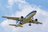 China Southern airlines Airbus A319 commercial airplane against sky