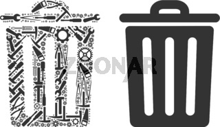 Dustbin Composition of Service Tools