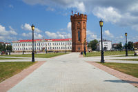 The Water tower in the center of Red square. Tobolsk. Russia
