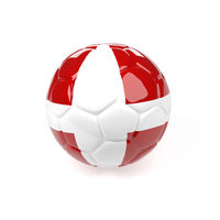 Soccer ball with the flag of Denmark