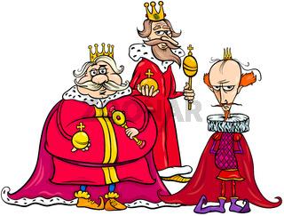 kings cartoon fantasy character group